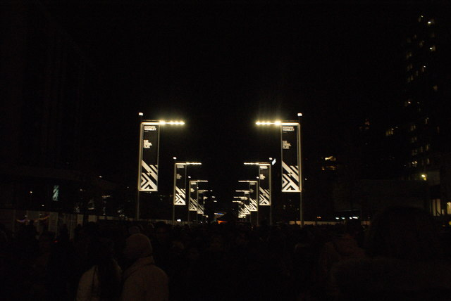 View of lights on Olympic Way