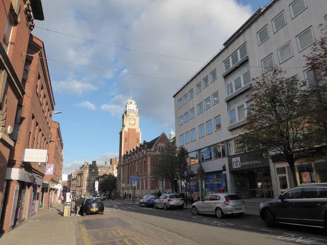 Looking east-northeast in Horsefair Street