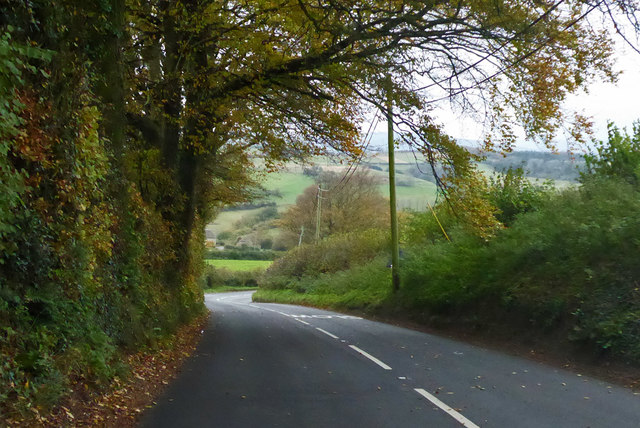 B3163 towards Beaminster