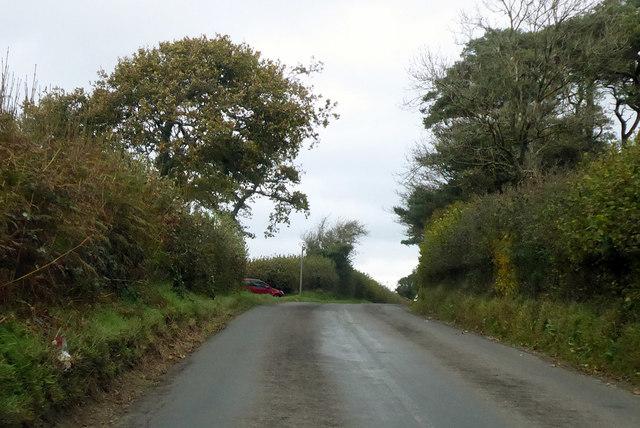 B3163 towards A356