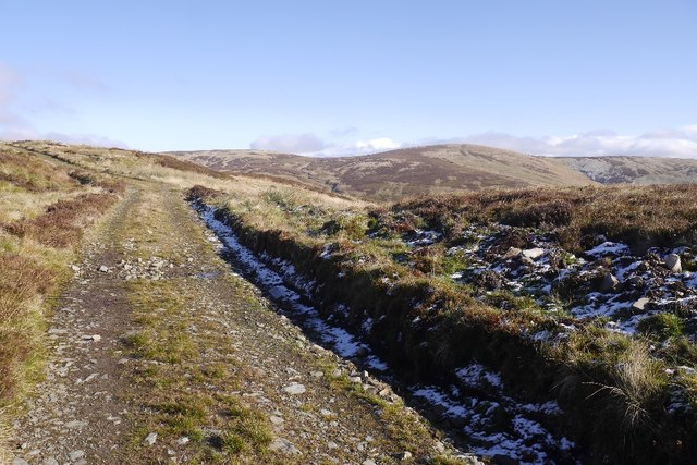Track over Boar Cleuch Flow