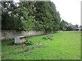 NY7286 : Cemetery wall, Falstone by Jonathan Thacker