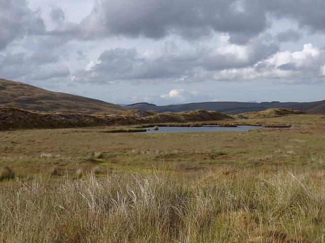 Boggy pond on the slopes of Pumlumon Fawr