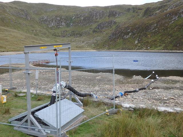 Temporary drinking water abstraction mechanism, Llyn Llygad Rheidol