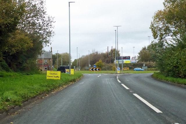 Roundabout on A37 Dorchester Road