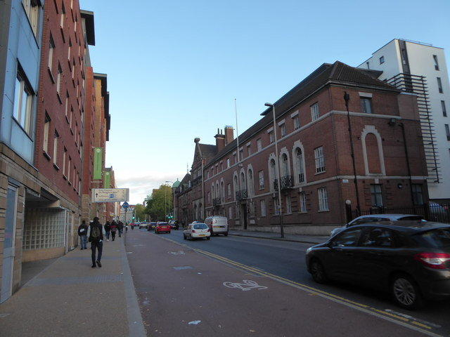 Cycle lane in Newarke Street