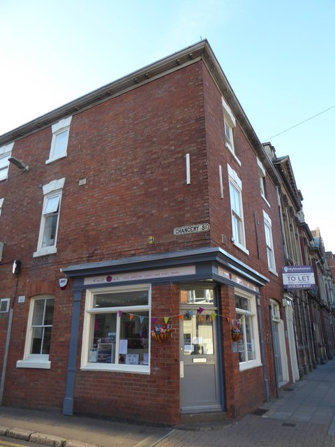 Shop to let at the junction of Pocklington Walk and  Chancery Street