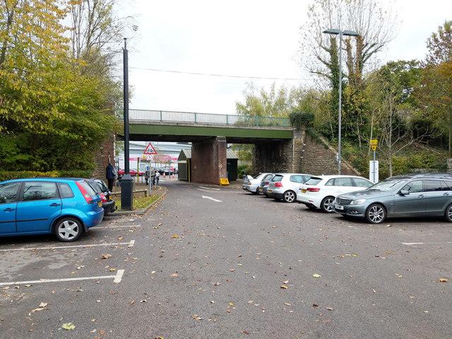 Bridge over former railway line, Yeovil