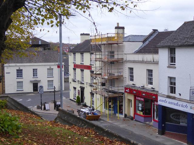 Buildings on Silver Street, Yeovil