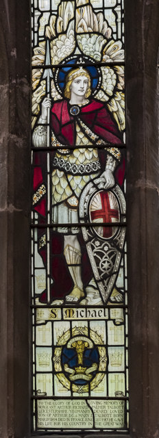 Stained glass window detail, St Mary Magdalene church, Waltham on the Wolds