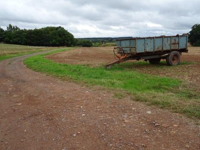 Trailer on farmland