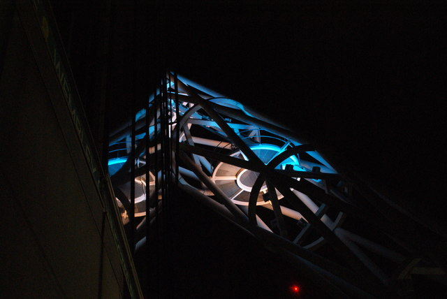 View of the Wembley Stadium arch from the stadium walkway #4