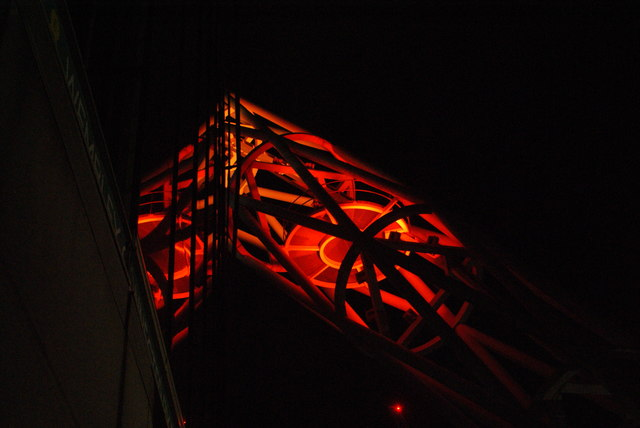 View of the Wembley Stadium arch from the stadium walkway #7