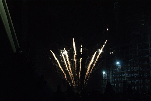View of fireworks in the Light Up the Night event from the Wembley Stadium walkway #9