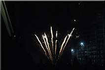 TQ1985 : View of fireworks in the Light Up the Night event from the Wembley Stadium walkway #9 by Robert Lamb