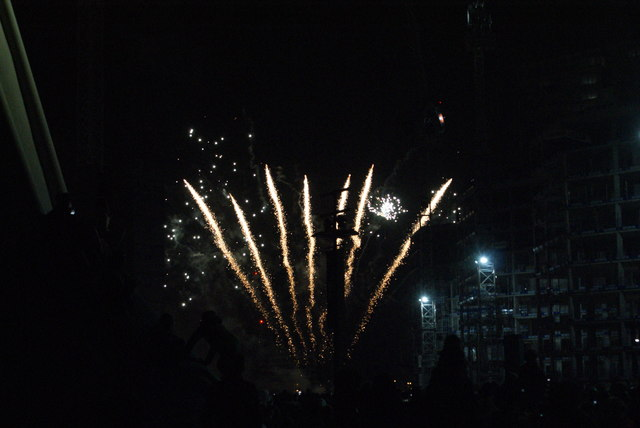 View of fireworks in the Light Up the Night event from the Wembley Stadium walkway #10