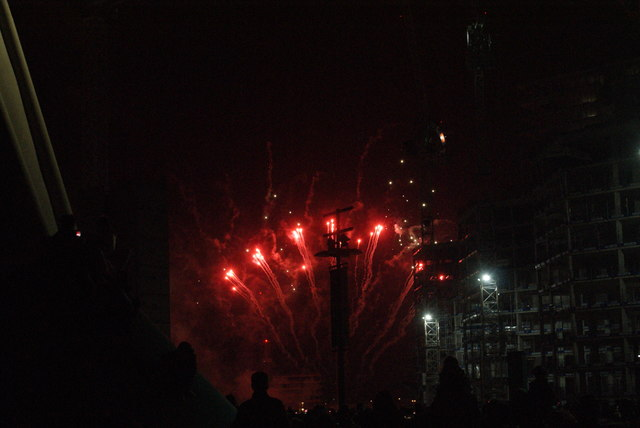 View of fireworks in the Light Up the Night event from the Wembley Stadium walkway #11