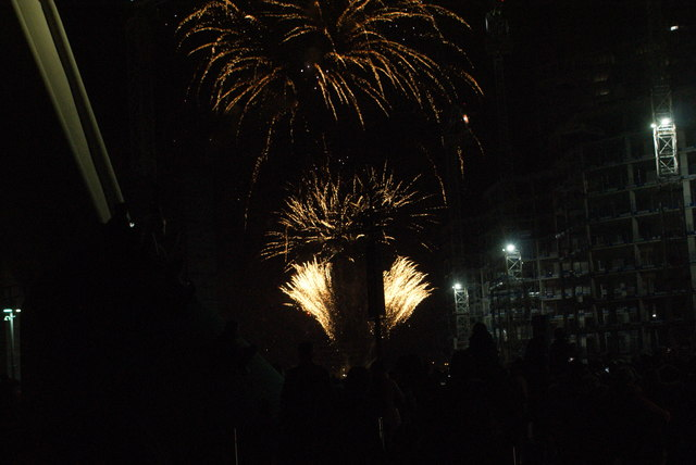 View of fireworks in the Light Up the Night event from the Wembley Stadium walkway #13