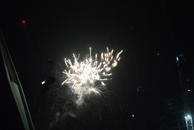 View of fireworks in the Light Up the Night event from the Wembley Stadium walkway #14