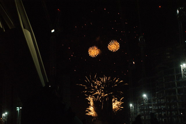 View of fireworks in the Light Up the Night event from the Wembley Stadium walkway #15
