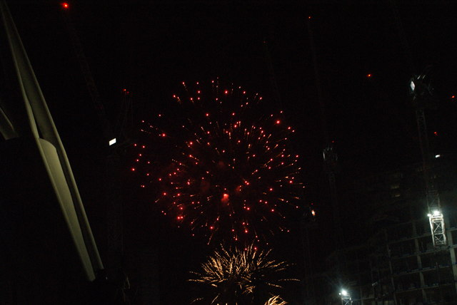 View of fireworks in the Light Up the Night event from the Wembley Stadium walkway #16