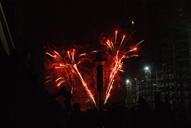View of fireworks in the Light Up the Night event from the Wembley Stadium walkway #22