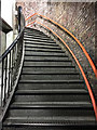 TQ3580 : Stairs, Wapping Overground station by Robin Stott