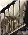 TQ3580 : Balustrade detail, stairs, Wapping Overground station, London by Robin Stott
