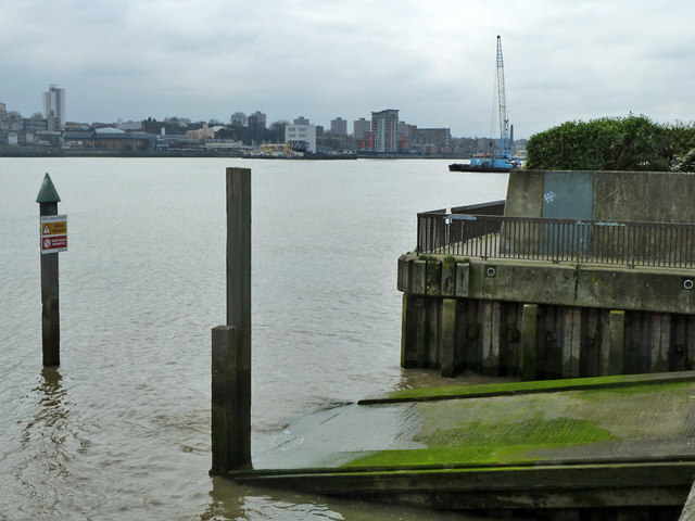Slipway at end of Barge House Road, North Woolwich