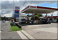 ST2583 : Esso filling station, Newport Road, Castleton by Jaggery