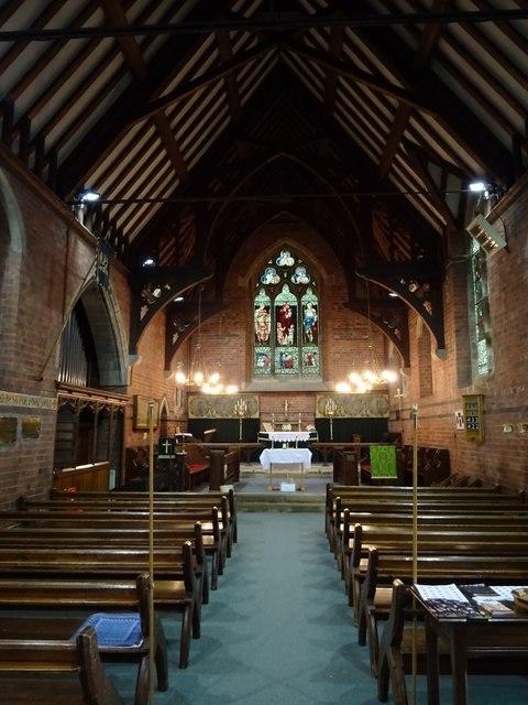 Interior of Wilden church