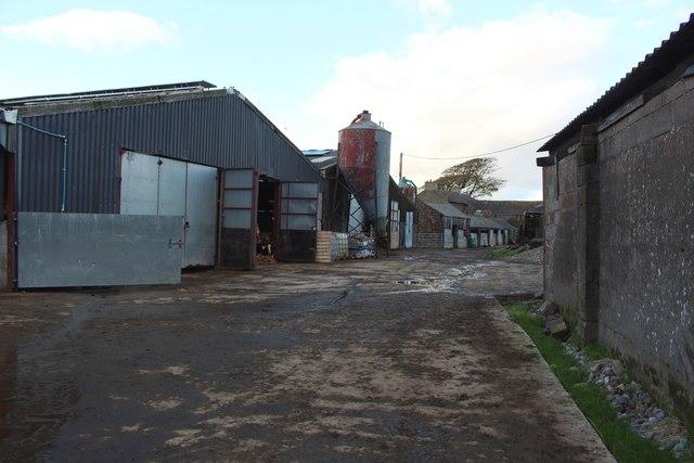 The yard of Wood End farm