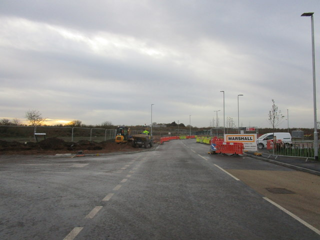 Road into new industrial zone near Blyth