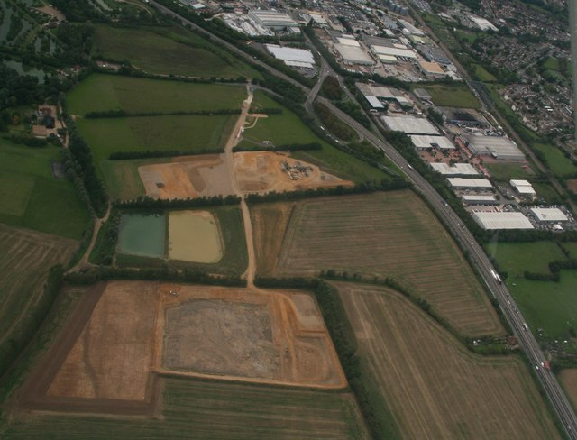 Sand quarries at Little Braxted: aerial 2018 (1)