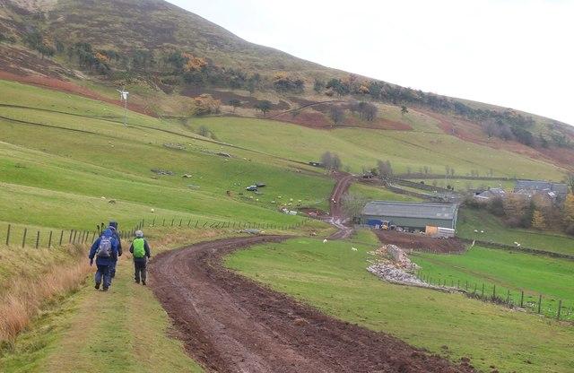 Approaching Eastside farm