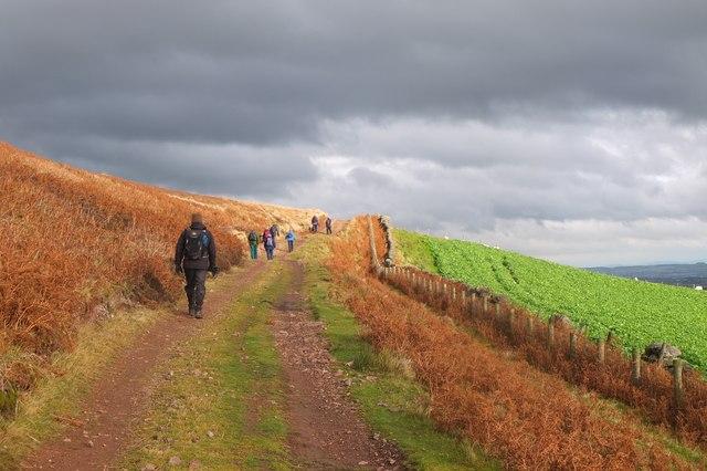Track below South Black Hill