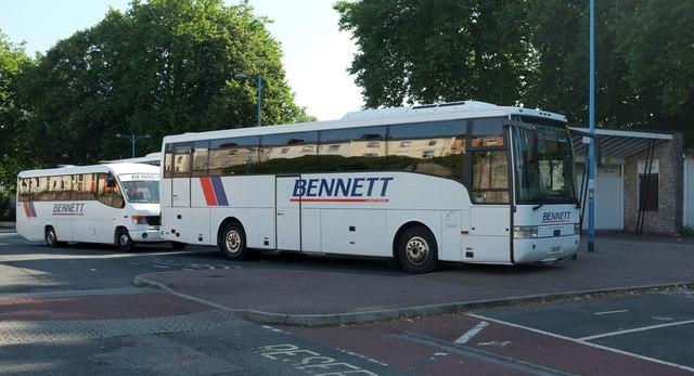 A Bennett double, Torquay coach station