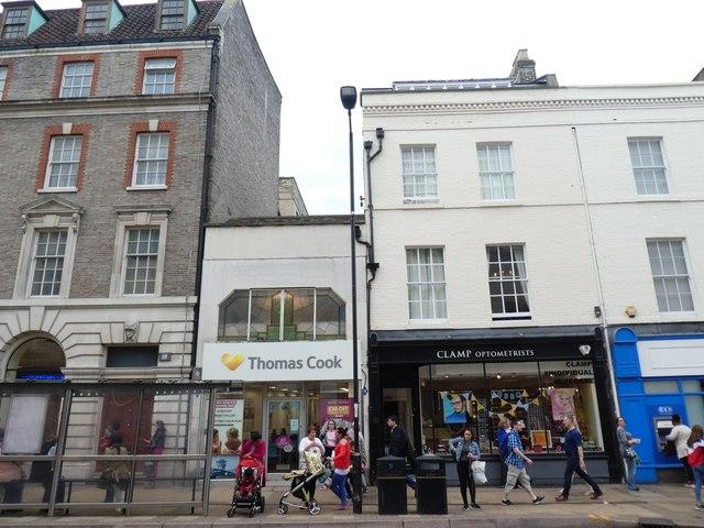 Thomas Cook travel agents, St Andrews Street, Cambridge