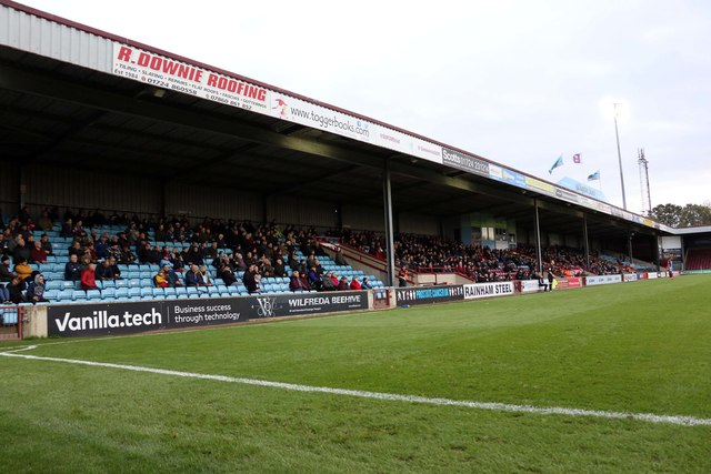 The Clugston Stand at Glanford Park