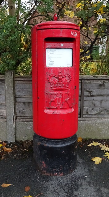 Elizabeth II postbox on Huddersfield Road, Stalybridge