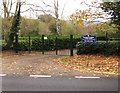 SO3801 : School entrance gates, Usk by Jaggery