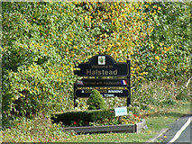 TL8131 : Welcome to Halstead sign on the A1124 Hedingham Road by Adrian Cable