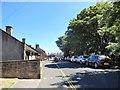 NU1734 : Looking east down Radcliffe Road, Seahouses by Robert Graham