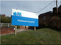 TL8131 : Halstead Hospital sign by Adrian Cable