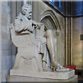 TL4458 : St John's College Chapel: statue of William Wilberforce by John Sutton