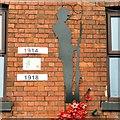 SJ9494 : Nemo Autos: WWI memorial - detail by Gerald England