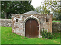 NY4335 : Little old building in St Michael's churchyard by Rose and Trev Clough