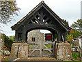 NY4335 : War memorial lychgate, Skelton churchyard by Rose and Trev Clough