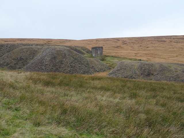 Spoil heaps and engine house