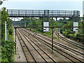 TQ5288 : Railway east of Romford by Robin Webster